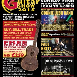 Tomorrow! Catch me at the Aintree guitar show http