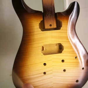 My First Sunburst Guitar Finish